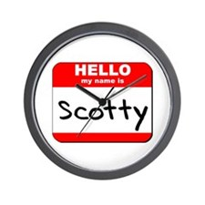 Hello my name is Scotty Wall Clock