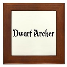 Dwarf Archer Framed Tile