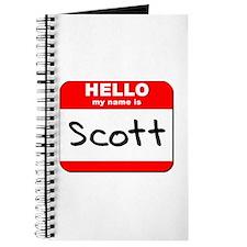 Hello my name is Scott Journal