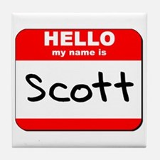 Hello my name is Scott Tile Coaster