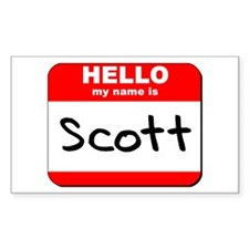 Hello my name is Scott Rectangle Decal
