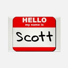 Hello my name is Scott Rectangle Magnet