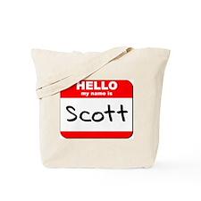 Hello my name is Scott Tote Bag