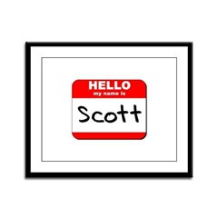 Hello my name is Scott Framed Panel Print