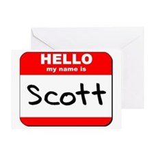 Hello my name is Scott Greeting Card