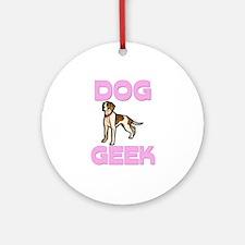 Dog Geek Ornament (Round)