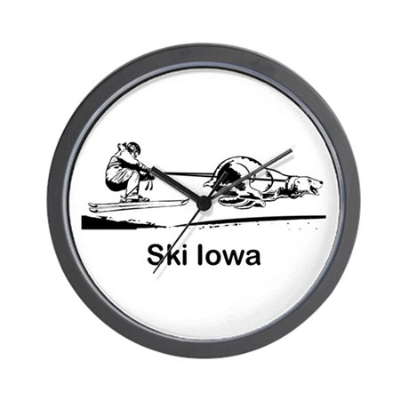 Ski Iowa Wall Clock