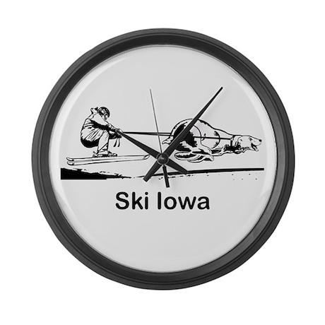 Ski Iowa Large Wall Clock