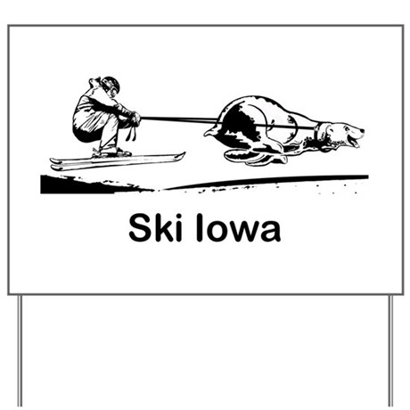 Ski Iowa Yard Sign