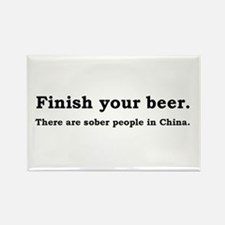 Finish Your Beer Rectangle Magnet