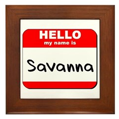 Hello my name is Savanna Framed Tile