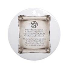 Wiccan Law Ornament (Round)
