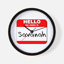 Hello my name is Savanah Wall Clock