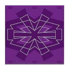Asterisk (purple) Tile Coaster