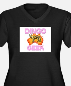 Dingo Geek Women's Plus Size V-Neck Dark T-Shirt