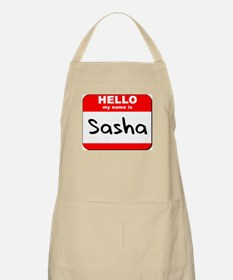 Hello my name is Sasha BBQ Apron