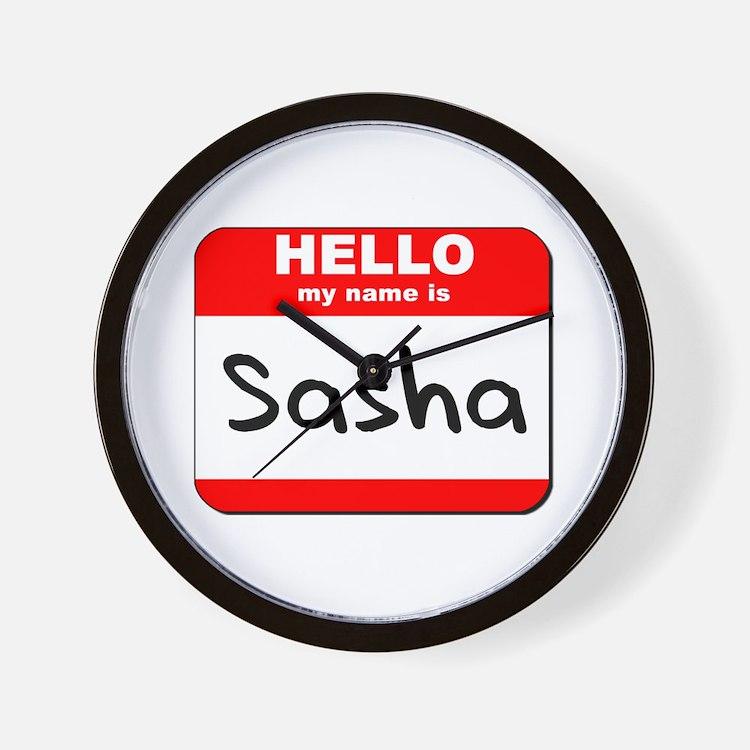 Hello my name is Sasha Wall Clock