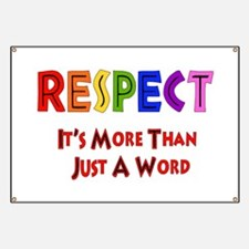 Rainbow Respect Saying Banner