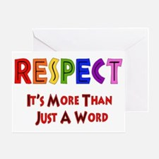 Rainbow Respect Saying Greeting Card