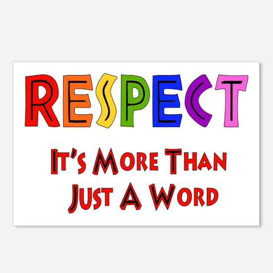 Rainbow Respect Saying Postcards (Package of 8)