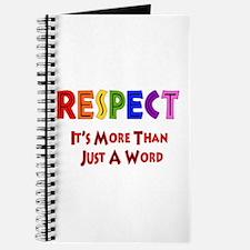 Rainbow Respect Saying Journal
