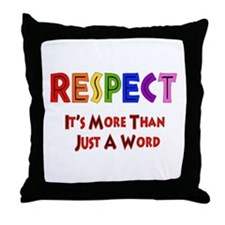 Rainbow Respect Saying Throw Pillow