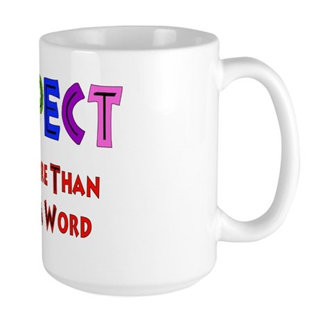 Rainbow Respect Saying Large Mug