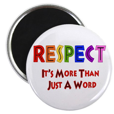 Rainbow Respect Saying Magnet