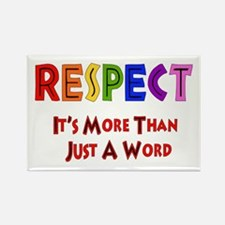 Rainbow Respect Saying Rectangle Magnet