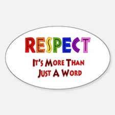 Rainbow Respect Saying Oval Decal