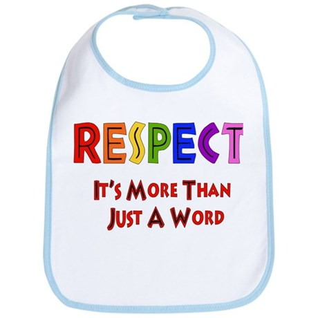 Rainbow Respect Saying Bib