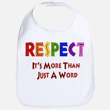 Rainbow Respect Saying Bib