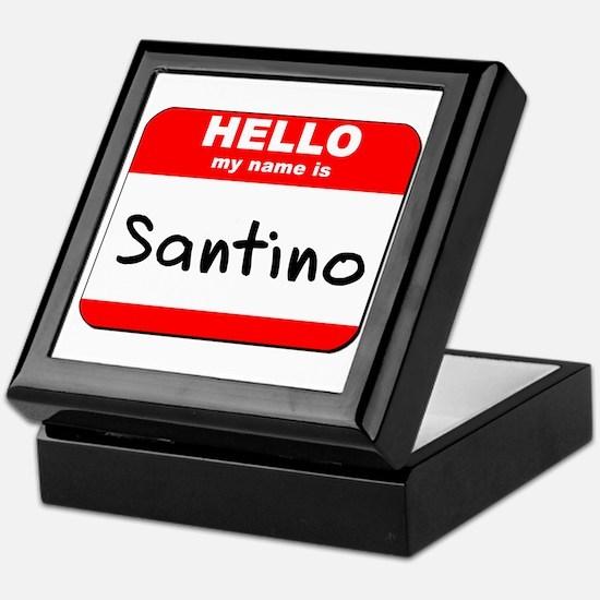 Hello my name is Santino Keepsake Box