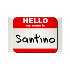 Hello my name is Santino Rectangle Magnet