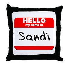 Hello my name is Sandi Throw Pillow