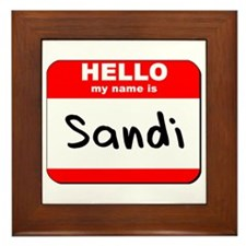 Hello my name is Sandi Framed Tile