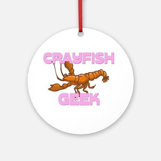 Crayfish Geek Ornament (Round)