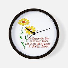 Respect Women Wall Clock