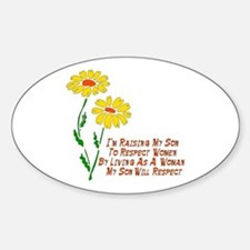 Respect Women Oval Decal