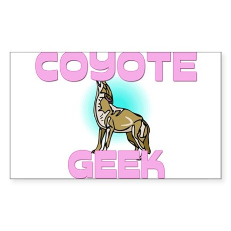 Coyote Geek Rectangle Sticker