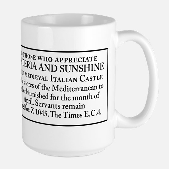 April in Italy Large Mug