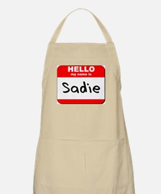 Hello my name is Sadie BBQ Apron