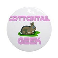 Cottontail Geek Ornament (Round)