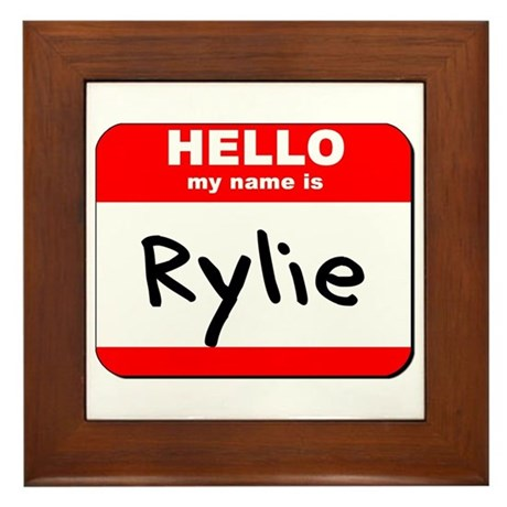 Hello my name is Rylie Framed Tile