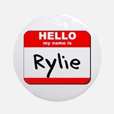 Hello my name is Rylie Ornament (Round)