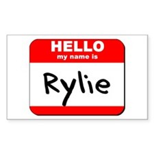 Hello my name is Rylie Rectangle Decal