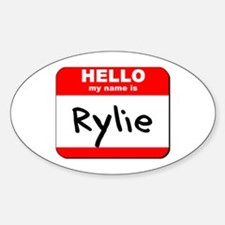 Hello my name is Rylie Oval Decal