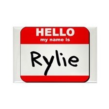 Hello my name is Rylie Rectangle Magnet