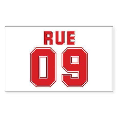 RUE 09 Rectangle Sticker