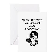 salmonella salmon Greeting Cards (Pk of 10)